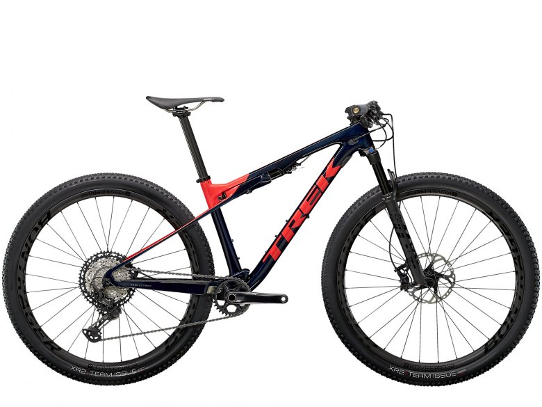 Trek Supercaliber 9.8 XT Carbon Blue Smoke/Radioactive Coral 2021